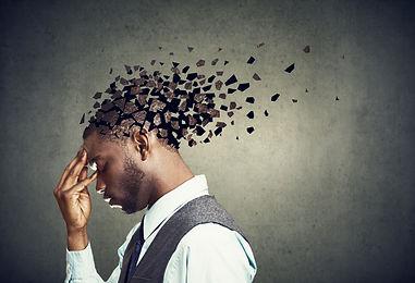 Memory loss due to dementia or brain dam