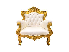 Luxurious vintage style sofa isolated on