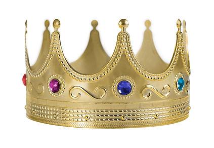 Golden crown replica with gem stones iso