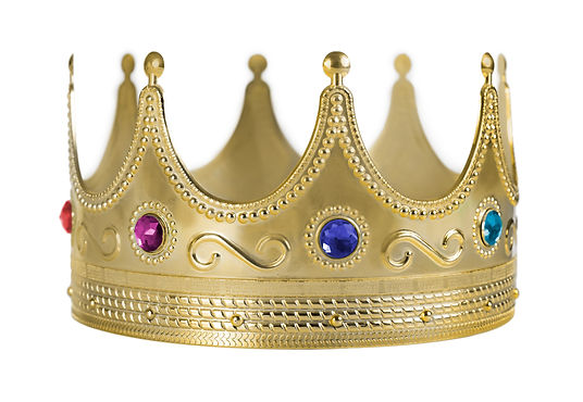 Golden crown replica with gem stones iso