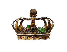 Gold and jewel King or queen's crown, is