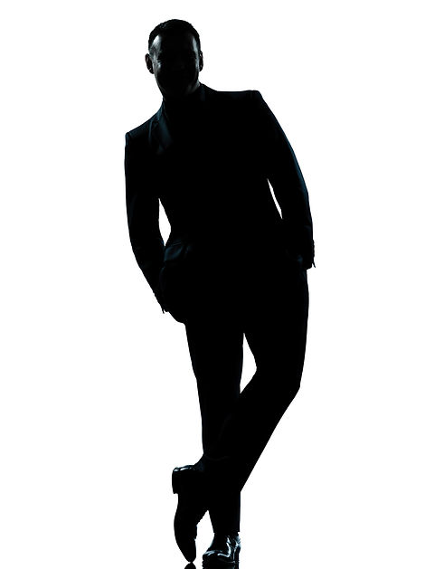 one caucasian business man silhouette st
