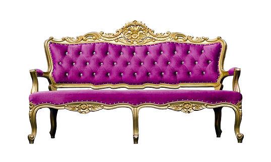 Vintage luxury Pink sofa Armchair isolat
