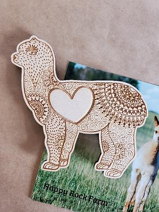 Alpaca Mandala Magnet