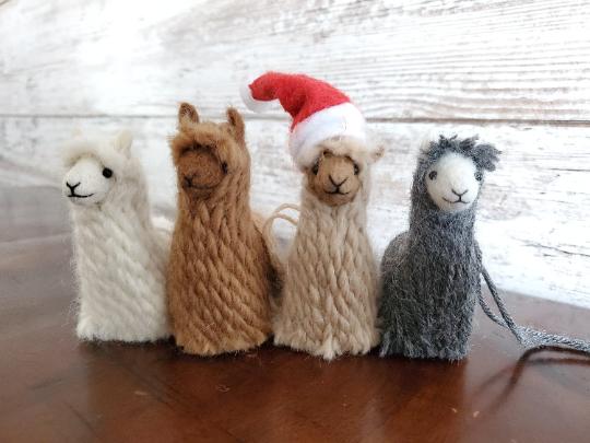 Suri Alpaca Ornaments