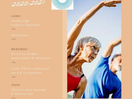 Planning Yoga et Bien-être 2020-2021