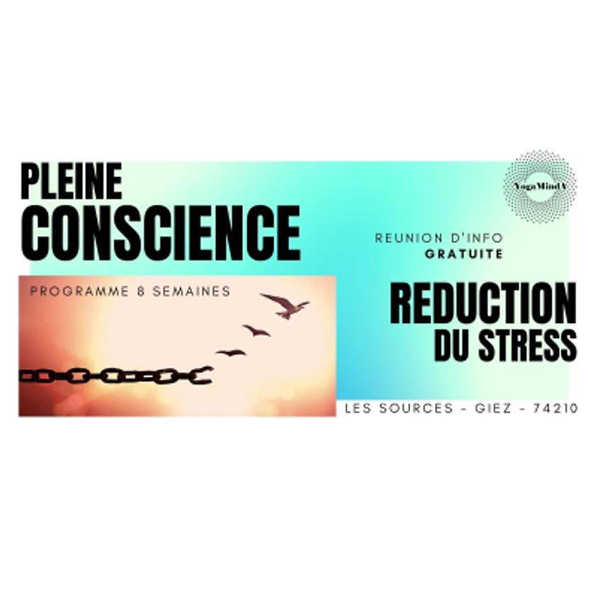 """Gratuit : Réunion d'information et d'introduction """"PLEINE CONSCIENCE programme 8 semaines"""""""