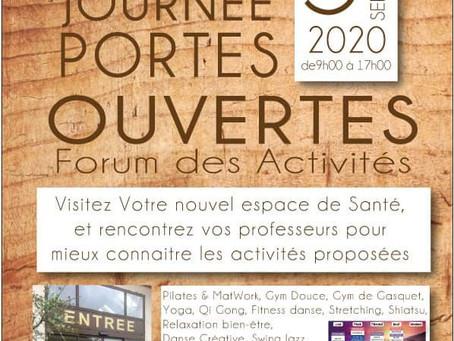 Infos et Portes Ouvertes 5 & 6 septembre 2020