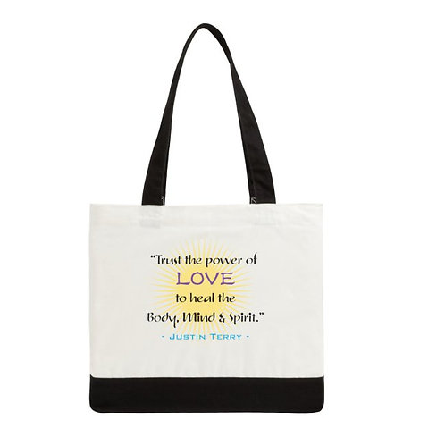 """""""Trust the Power of Love"""" Tote Bag"""