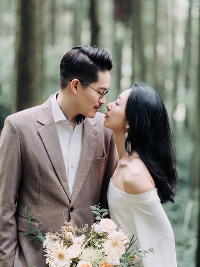 婚紗推薦文分享|自然恬靜的婚紗拍攝,是兩人踏入愛裡的真實模樣。 Linn 美式婚紗攝影 /Dabby 造型 / Emotion 映目婚紗