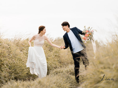 自助婚紗推薦分享|台中-輕甜美式婚紗攝影 |LINN Photography 美式婚紗|彰濱 台中拍婚紗