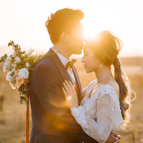 草原逆光 美式婚紗攝影
