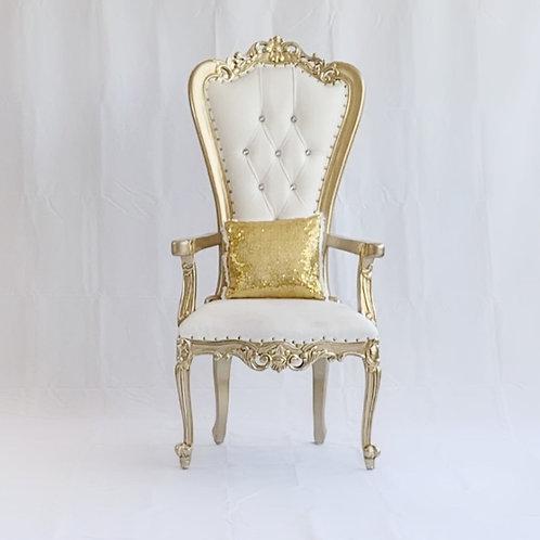 Maximum coverage petite throne chairs cover
