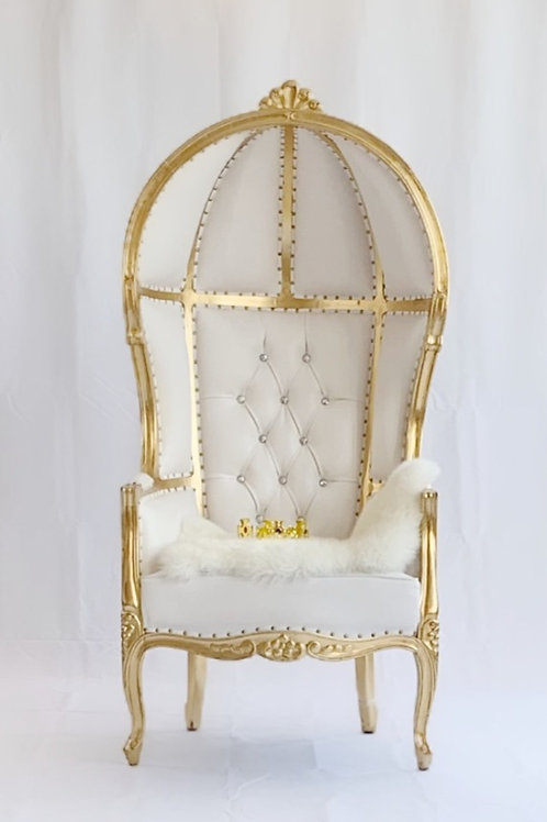 Maximum coverage Eggback throne chair cover