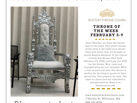 $100 Throne of the week- Feb 3 - Feb 9