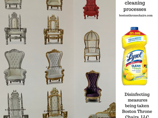 Disinfecting your throne chair rentals