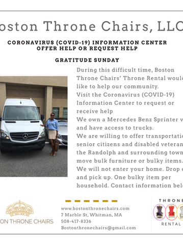 Coronavirus (COVID-19) Information Center to request or receive help