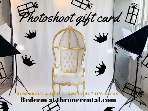 Photoshoot gift certificate available