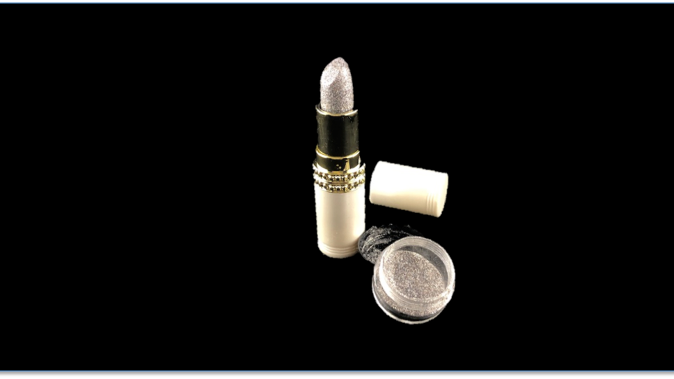DJ Long-Lasting Shimmer Lipstick and DISCO Topical Glitter