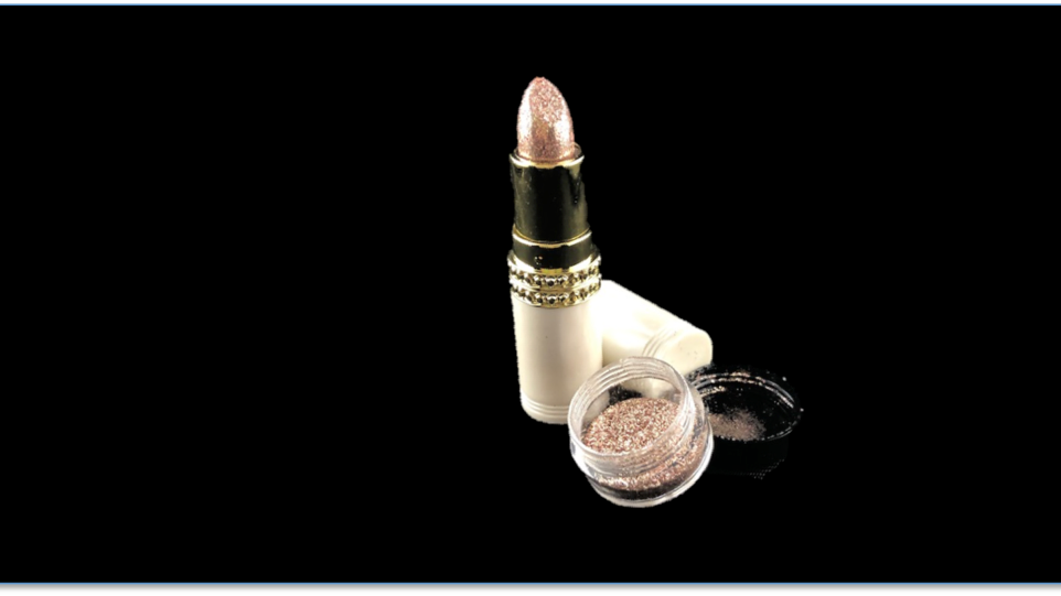 PONG Long-Lasting Shimmer Lipstick and CHANDELIER Topical Glitter