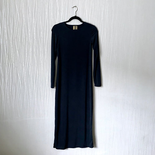 maxi slip with sleeves NAVY