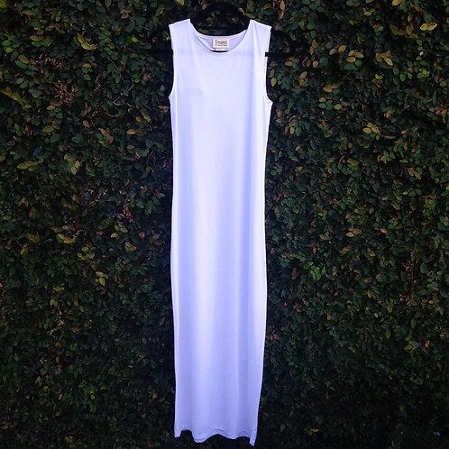 maxi slip sleeveless WHITE