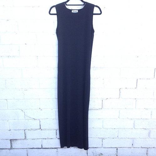 maxi slip sleeveless BLACK