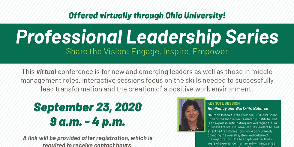 Virtual Professional Leadership Series- Share the Vision: Engage, Inspire, Empower