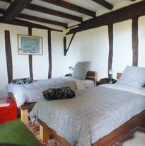 double room yoga retreat accommodation.J