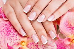Beautiful woman's nails with beautiful french manicure  .jpg