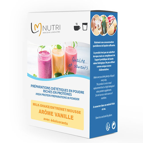 Milk-shake - Entremet - Mousse Arôme VANILLE