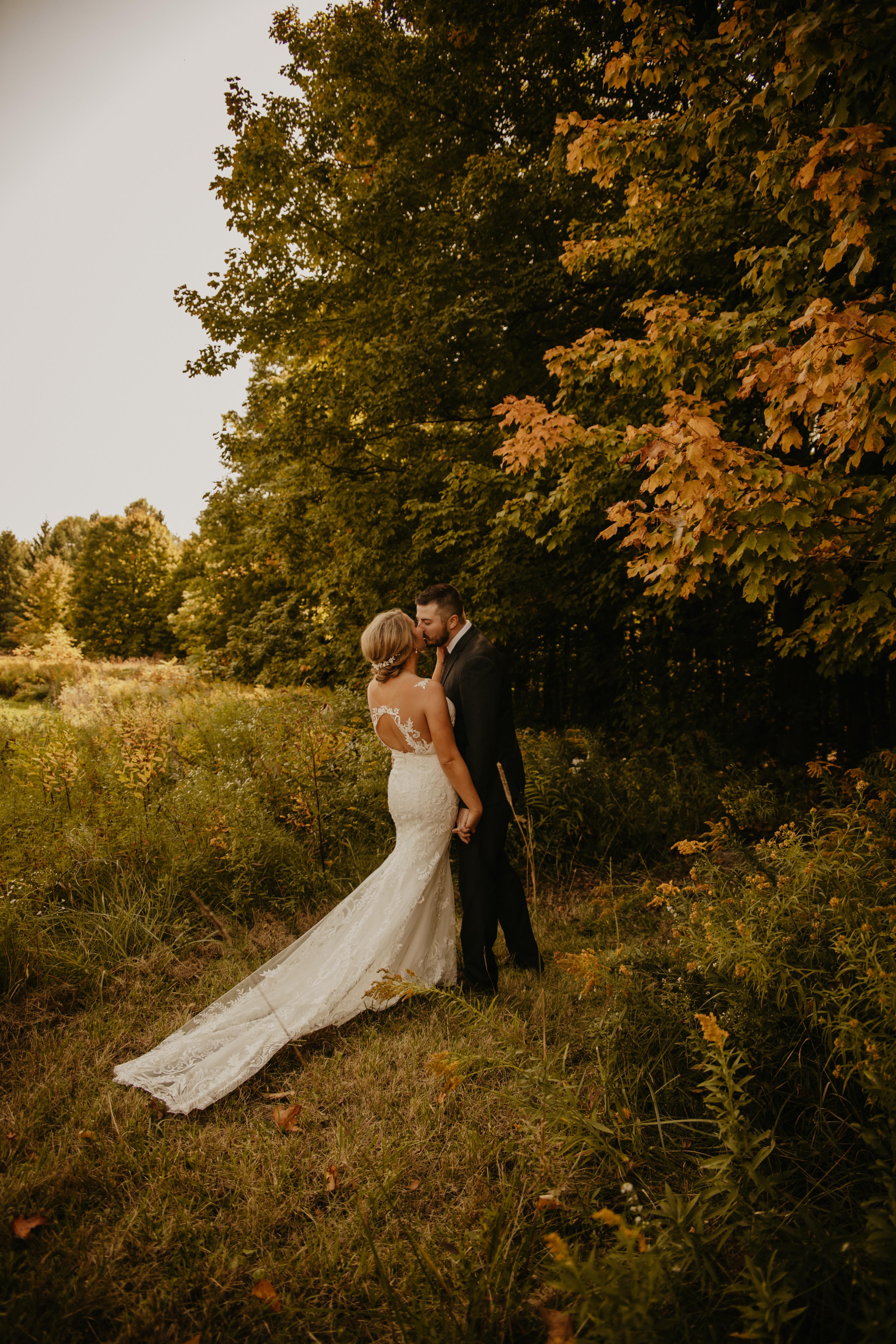 autumnal outdoor garden wedding