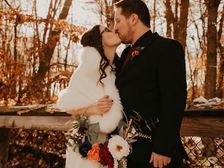 Paige + David's November Wedding