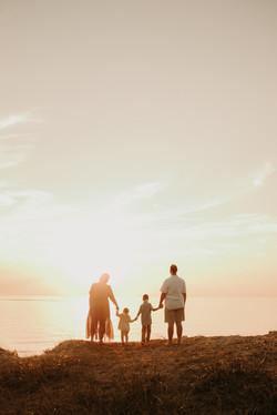 golden beach family session
