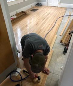 Floor Being Installed