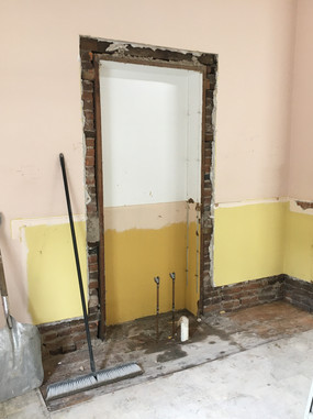 After sink removal