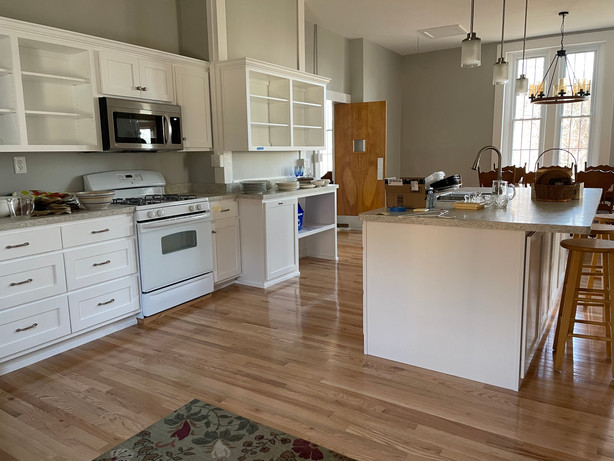 New cabinets and appliances