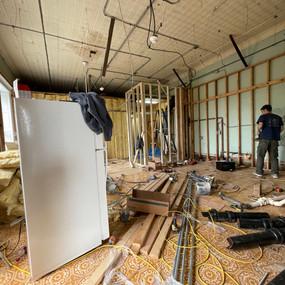 Beginning kitchen demolition