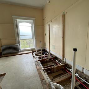Beginning bathroom demolition