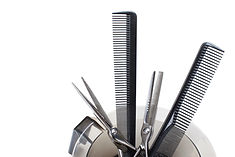 combs and scissors