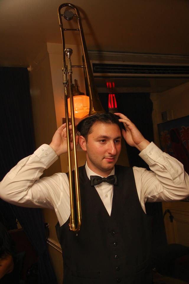 Jake Handleman on Trombone.