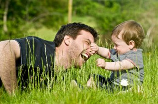 Happily involved Dads' help create happy involved kids.