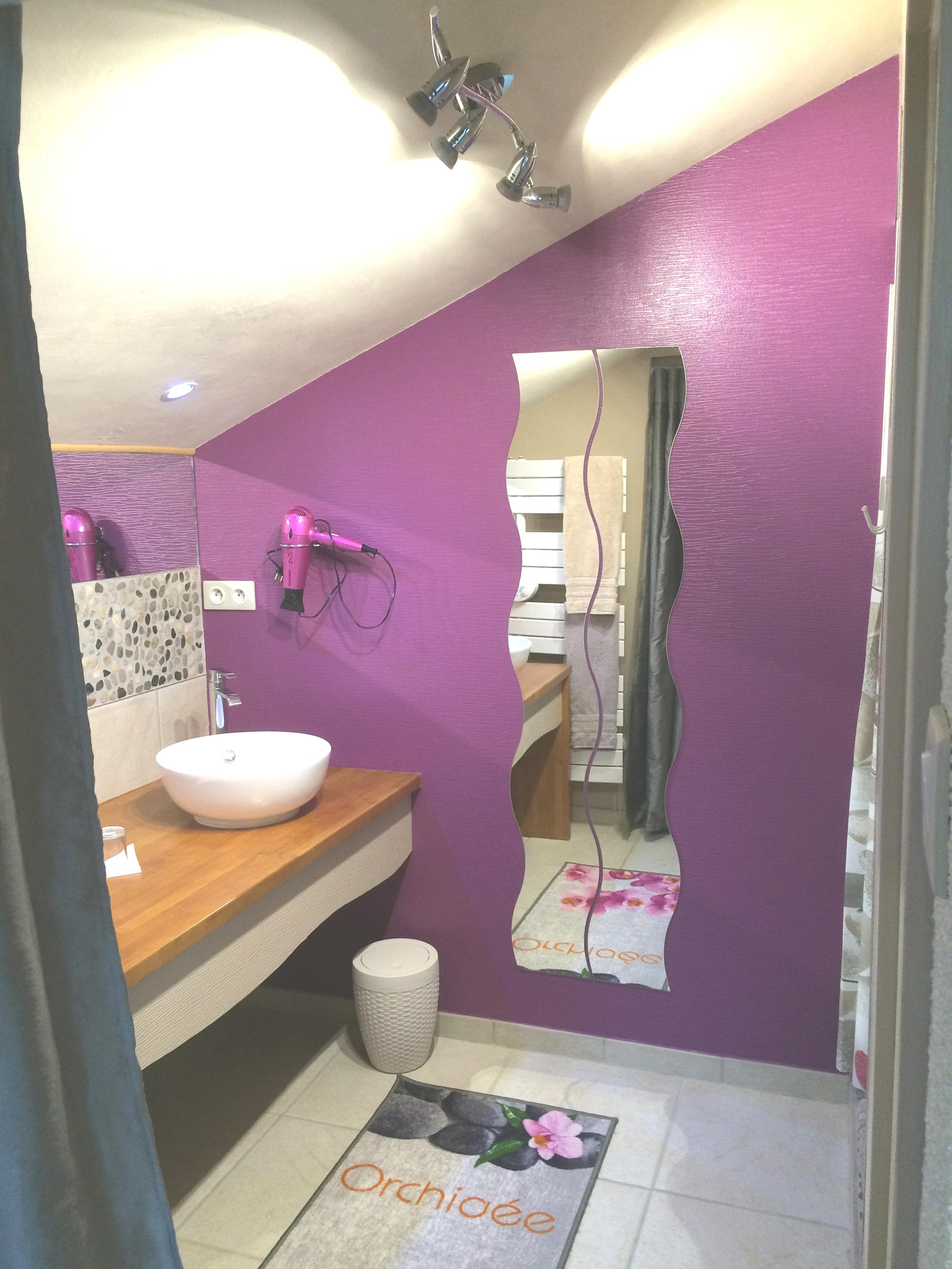 Salle de bains Fleur d'Orchidée