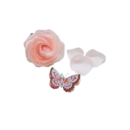 Light Pink Flower 4in H x 3in W