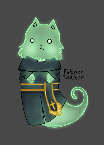 Priest Ghost Cat