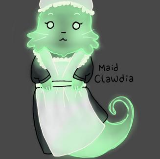 Maid Ghost Cat