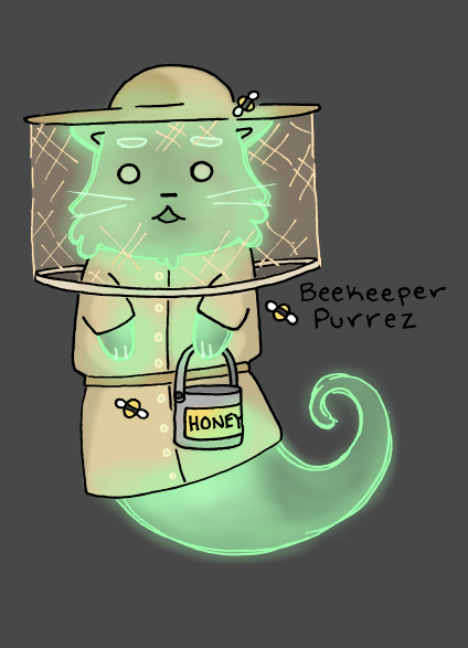 Beekeeper Ghost Cat