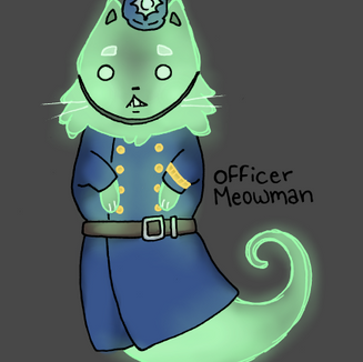 Policeman Ghost Cat