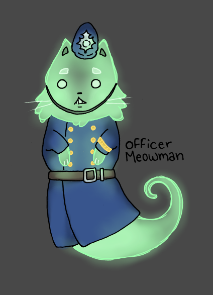 Policeman Ghost Cat