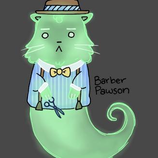 Barber Ghost Cat